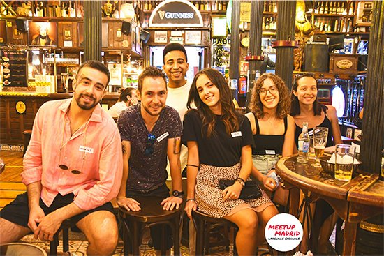 conversation language exchange Madrid